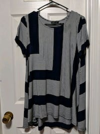 black and gray striped long-sleeved dress Woodbridge, 22192