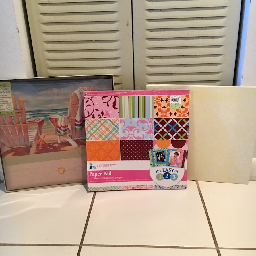 Photo 2 Scrapbooks (12 x 12 pages) and 150 Asst Designs - NEW, NEVER USED