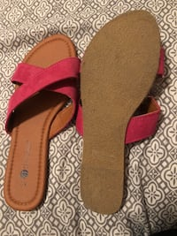 Brand new pink and tan sandals, size 7  Fresno, 93727