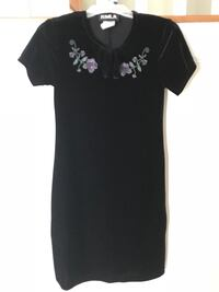 Black velvet dress with purple flowers (kids) Clarksburg, 20871