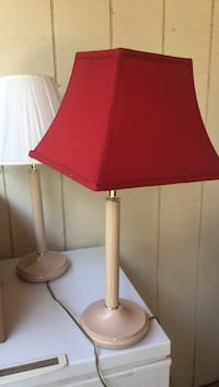 red and white shade table lamps Albuquerque, 87106