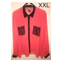 Women's size XXL pink blouse Independence, 64053
