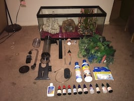 Fish Tank and Assorted Accessories, Negotiable, Accepting Trades.