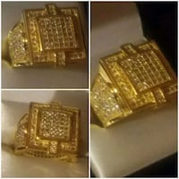 24k gold plated ring  46 km