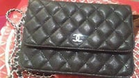 quilted black leather Chanel wristlet Winnipeg, R3C 0W9