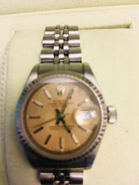 round gold-colored chronograph watch with link bracelet Atlanta, 30331
