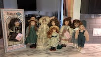 Porcelain dolls all 8 one price Lincoln, L0R