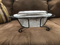 gray metal framed glass top coffee table West Melbourne, 32904