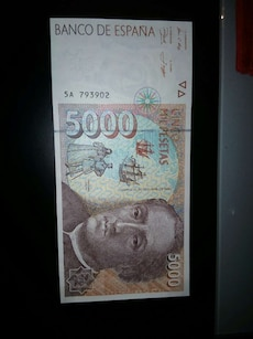 Billete 5000 pesetas de 1992