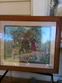 brown wooden framed painting of house near body of water Greenville, 29611
