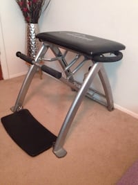 Malibu pilate work out chair work great bars separate to work individual legs or arms or can stay as one bar, spring strengths adjustable
