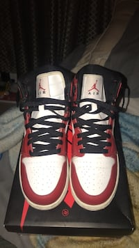 pair of red-and-white Nike basketball shoes San Antonio, 78238