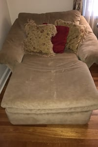 Chaise lounge with pillows