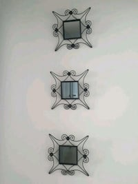 two black metal wall mount candle holders Edmonton, T5X 3H4