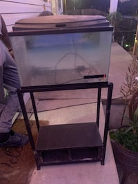 1 gallon fish tank and stand