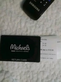 Michael's gift Card, with $174.33 on it, for only $100.