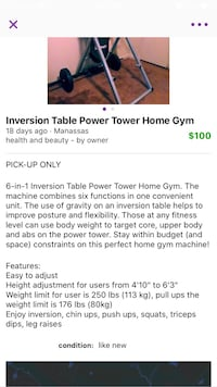 6-in-1 inversion table