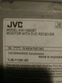 JVC Monitor With DVD Receiver.       Pick up only