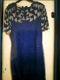 Blue beaded dress Vienna, 22180