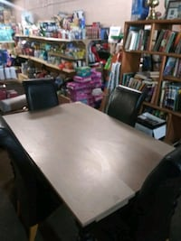 Table & 4 chairs.