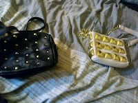 black and yellow leather crossbody bag Whittier, 90604