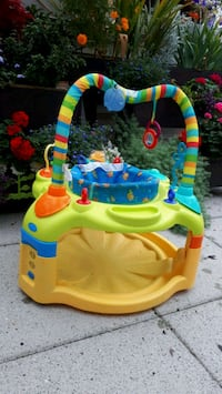 baby's yellow and blue activity saucer Port Coquitlam, V3C 3K9