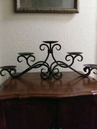 Wrought iron candle 5 holder 28 x 10   Strathmore, 93267