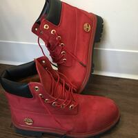 Red & Black Special edition Timberlands Winnipeg, R2N 5A4
