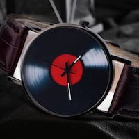 Casual  Watch Music Vinyl  Unisex Retro Design Leather Band Ottawa