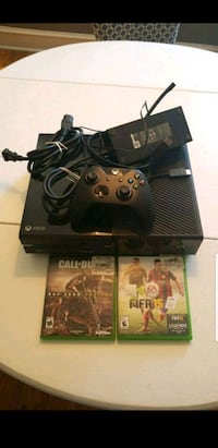 black Xbox One console with controller and game ca 06482, 06482