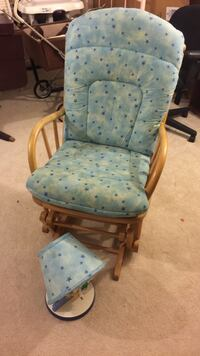 Blue and brown wooden glider chair Brookeville, 20833