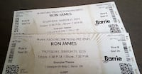 RON JAMES --FULL THROTTLE -- MARCH 21, 2019 -- 2 TICKETS Newmarket