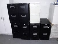 7 Staples 2 Drawer File Cabinets, keys Included Waterloo