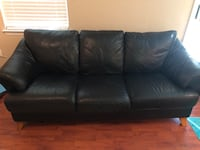 Black leather couch and chair Olney, 20832