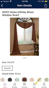Brown window curtain scarf window covering   Simpsonville, 29681