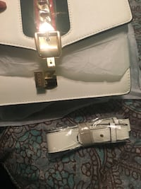White gucci leather crossbody bag