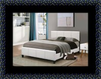 White platform bed with mattress and box all size Temple Hills