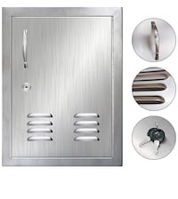 POPMOON Access Door with Vents, Lock and Key for Outdoor