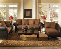 Traditional 3pc set: sofa, loveseat, chaise Radcliff, 40160