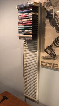 DVD wall rack (holds 50 DVDs) 237 mi