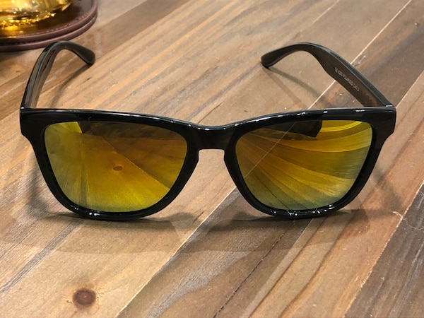 Black frame with fire mirror lens fashion sunglasses