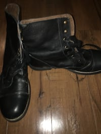Men's soft leather work boots size 11