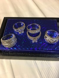 All rings  are 925 Sterling Silver each ring  Live Oak, 78233