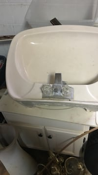 white ceramic sink with silver-colored faucet Upper Marlboro, 20772