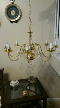 Chandelier, gold tone  Fort Mill