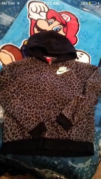 brown and black Nike leopard full-zip hooded jacket Moncton, E1C 6P4