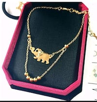 Gold-colored necklace with box Falls Church, 22043