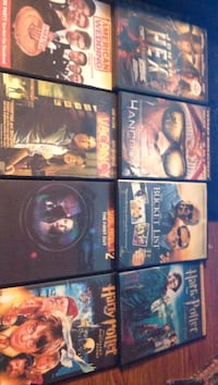 eight assorted DVD movie cases
