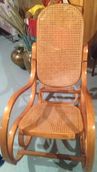 brown wood cained Brentwood rocker in immaculate condition  Toronto, M6K 1G6