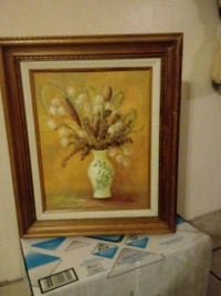 brown wooden framed painting of flowers Reno, 89501